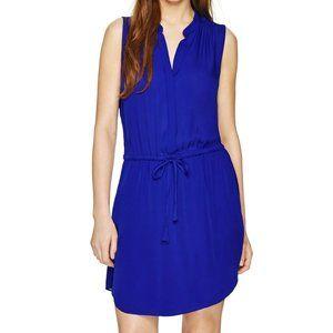 Babaton Benedict Silk Sleeveless Dress Blue XS EUC